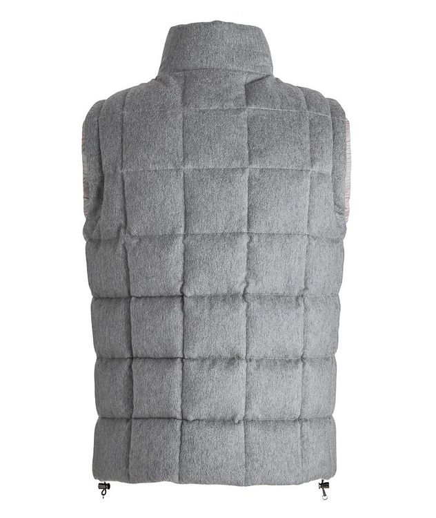 Cashmere Quilted Down Vest picture 2