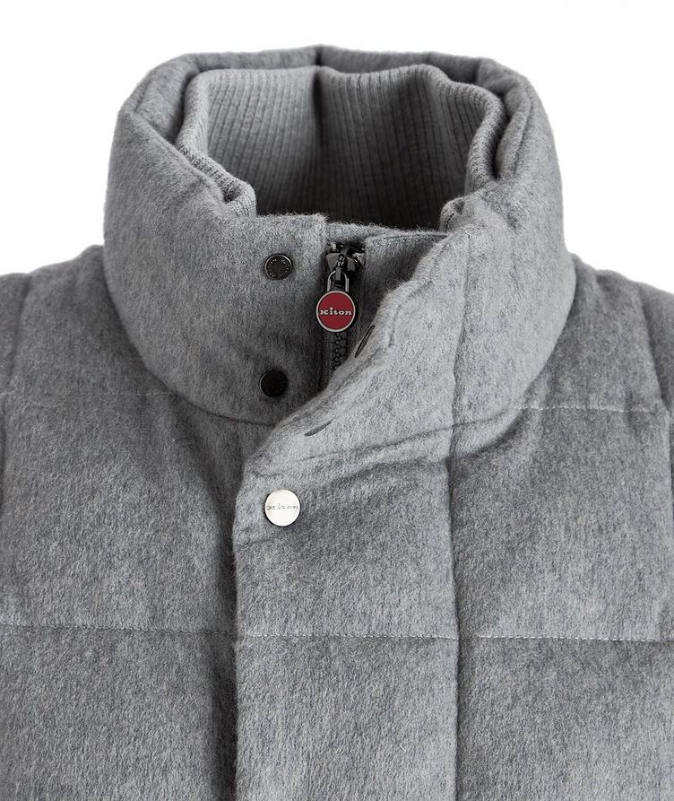 Cashmere Quilted Down Vest image 2