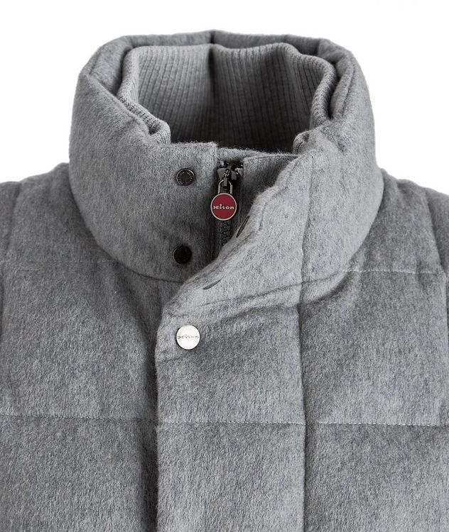 Cashmere Quilted Down Vest picture 3