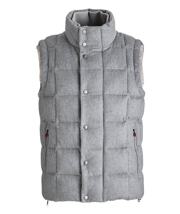 Cashmere Quilted Down Vest picture 1