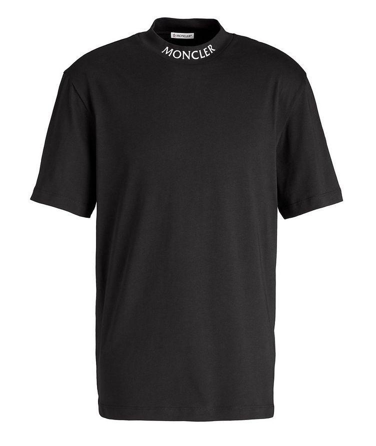 T-shirt en coton à col montant image 0
