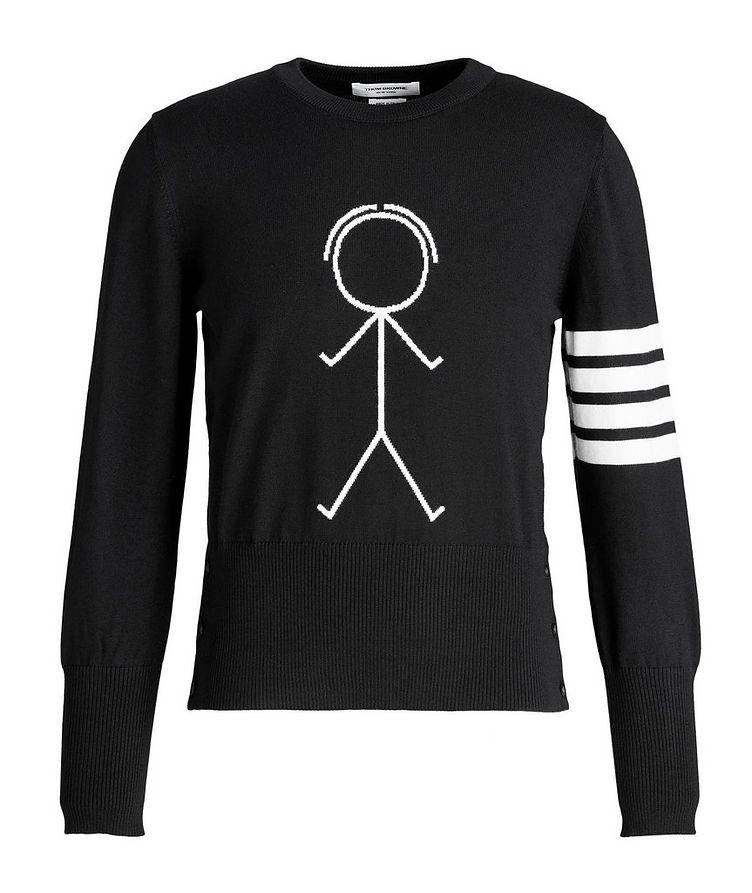 Mr. Thom Icon Four-Bar Stripe Wool Sweater image 0