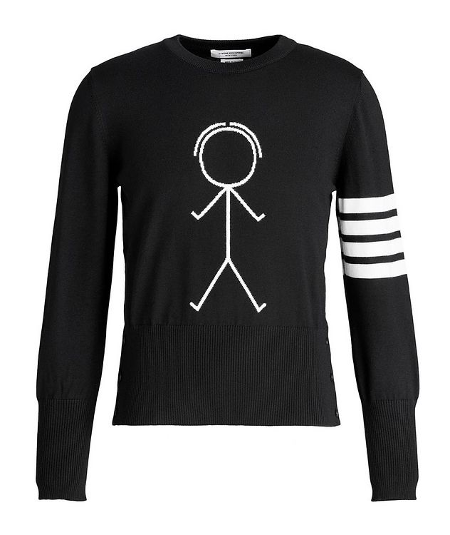 Mr. Thom Icon Four-Bar Stripe Wool Sweater picture 1