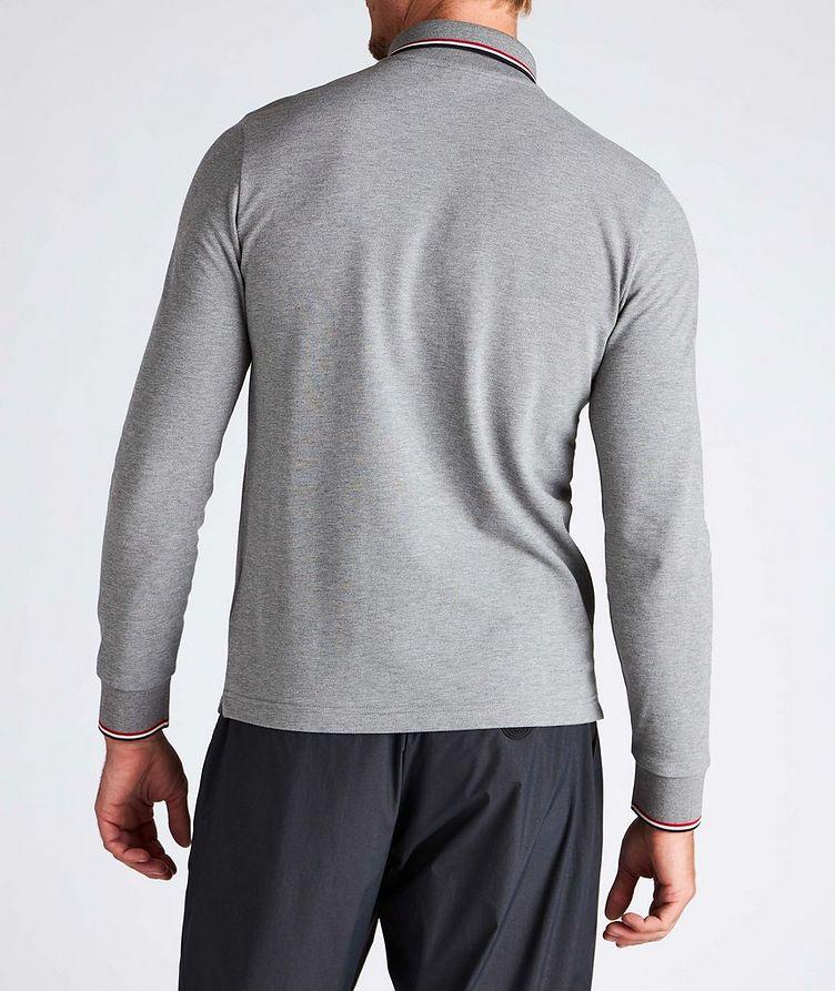 Long-Sleeve Piqué Cotton Polo image 2