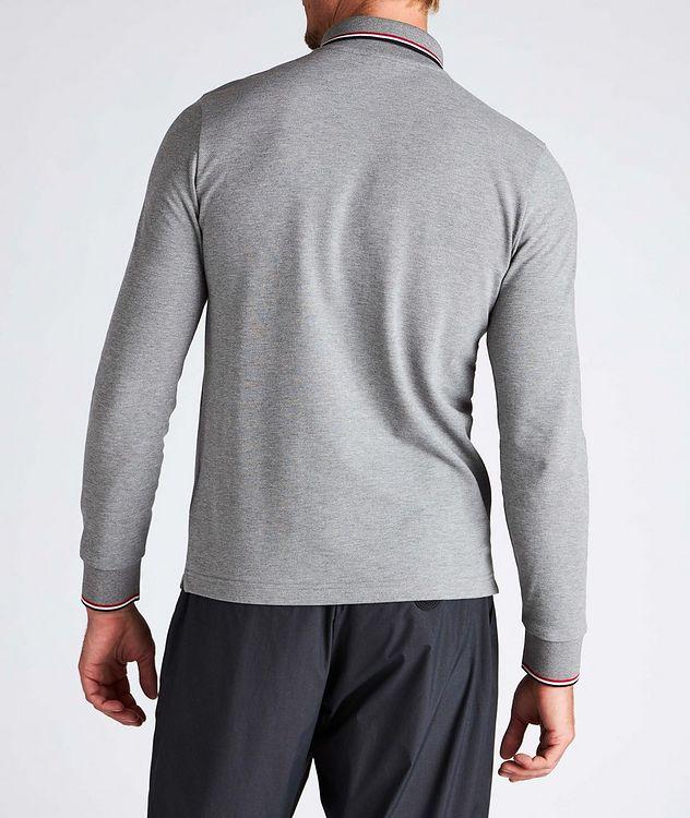 Long-Sleeve Piqué Cotton Polo picture 3
