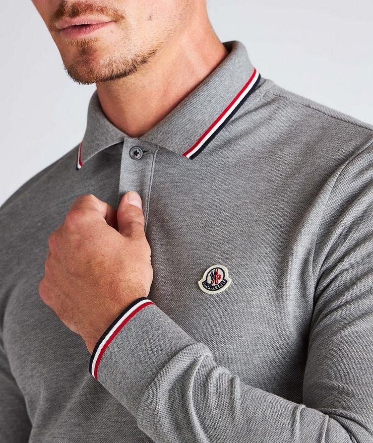 Long-Sleeve Piqué Cotton Polo image 3