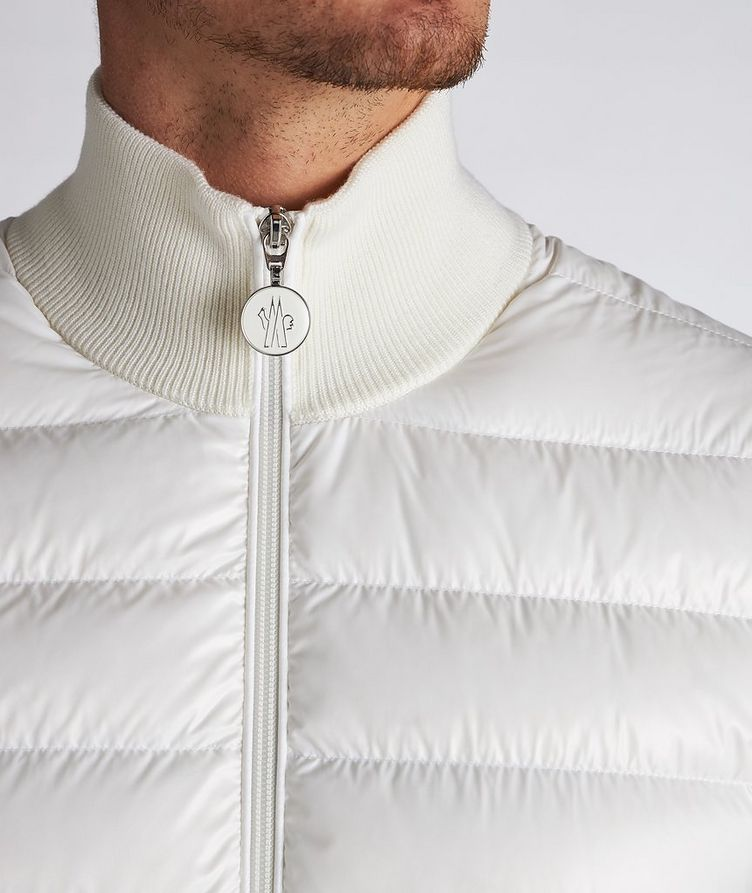 Quilted Down Cardigan Jacket  image 4