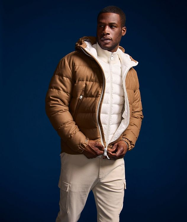 Quilted Down Cardigan Jacket  picture 7