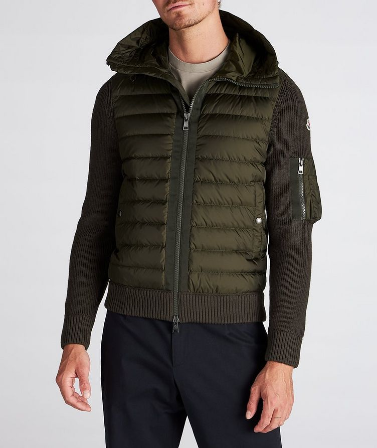 Quilted Down Cardigan Jacket image 1