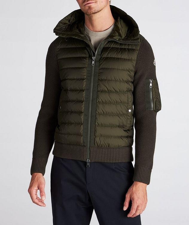 Quilted Down Cardigan Jacket picture 2