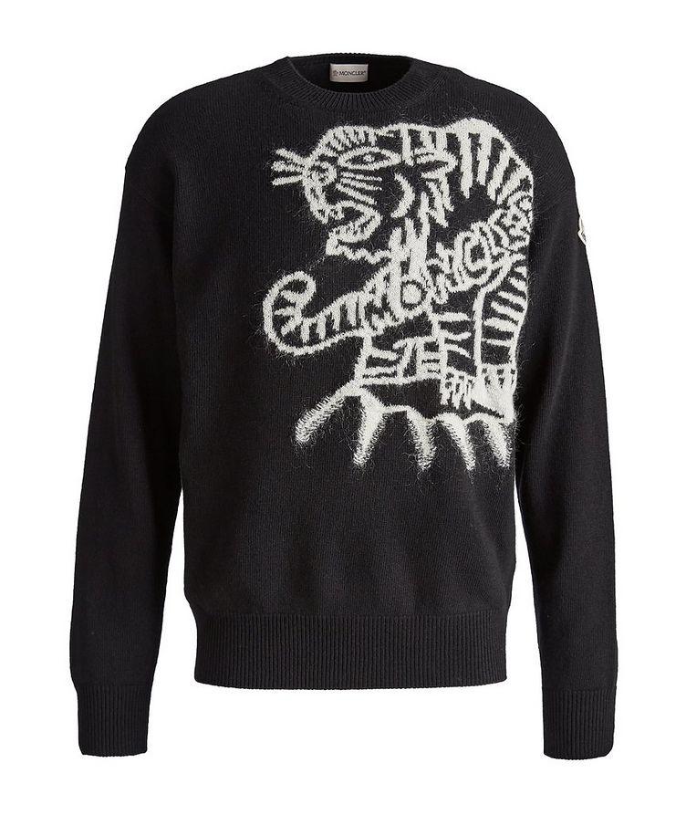 Tiger-Print Wool Sweater image 0