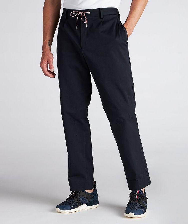 Pantalon en coton extensible à cordon image 1