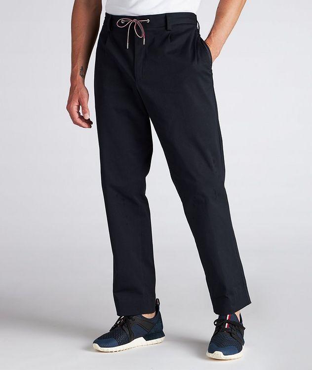 Pantalon en coton extensible à cordon picture 2