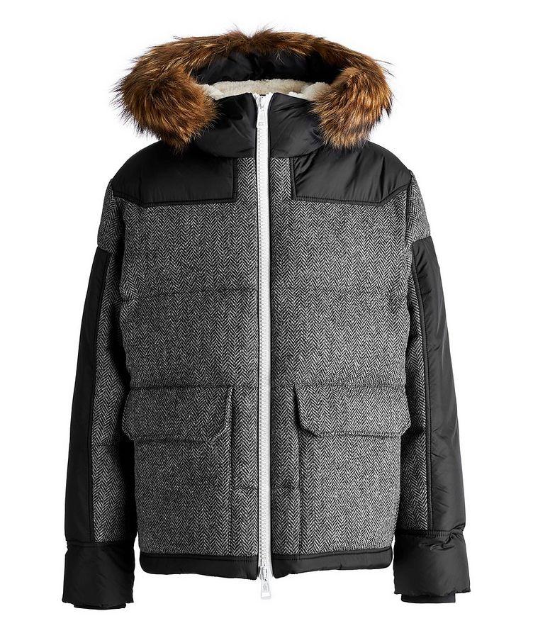 Robert Fur-Trimmed Herringbone Wool Parka image 0