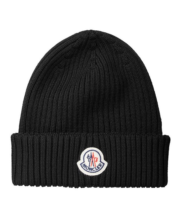 Logo Ribbed Knit Wool Toque picture 1
