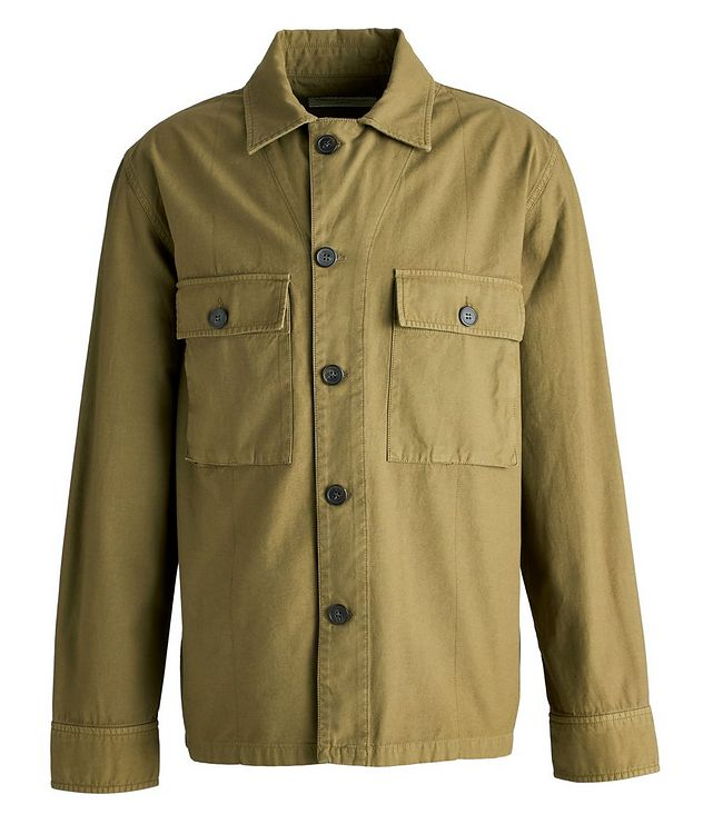 Swan Cotton Overshirt Jacket picture 1