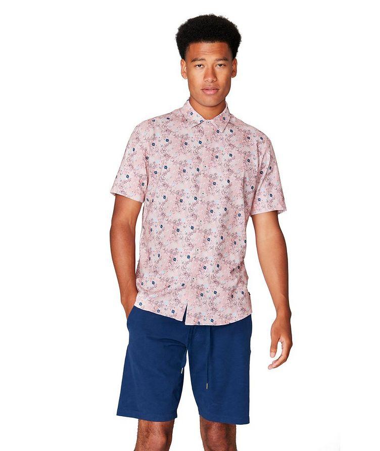 On-Point Short-Sleeve Cotton-Blend Shirt image 0