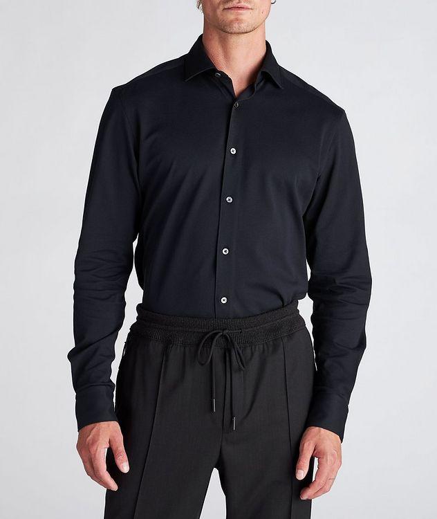 Slim-Fit Piqué Cotton Shirt picture 2