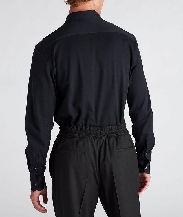 Slim-Fit Piqué Cotton Shirt picture 3