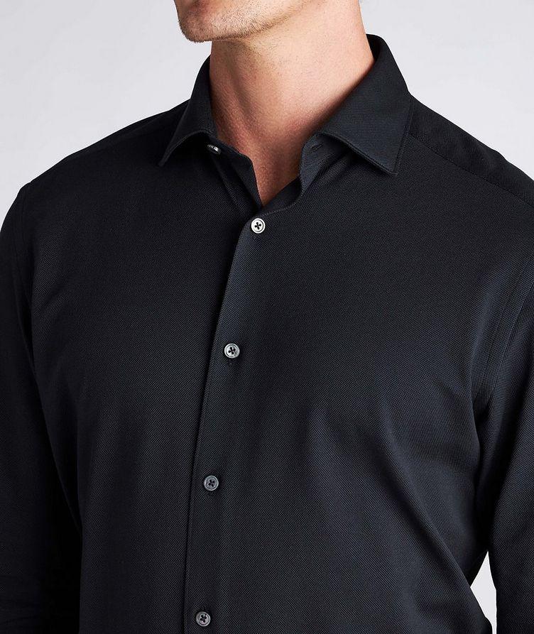 Slim-Fit Piqué Cotton Shirt image 3