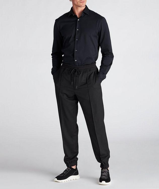 Slim-Fit Piqué Cotton Shirt picture 5