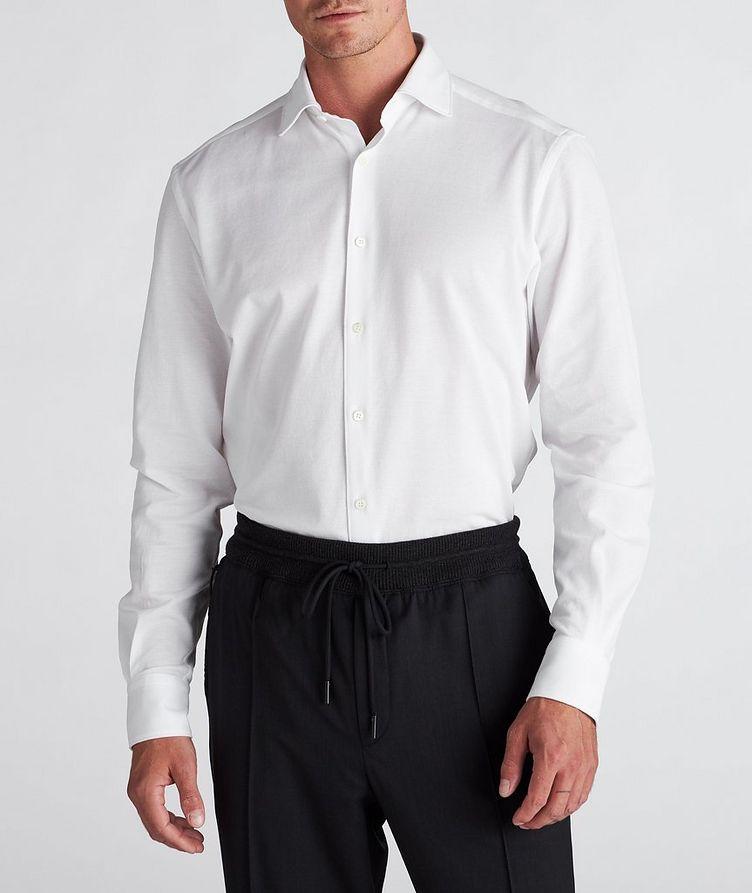 Slim-Fit Piqué Cotton Shirt image 1