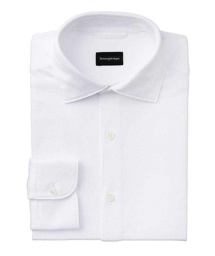 Slim-Fit Piqué Cotton Shirt image 0