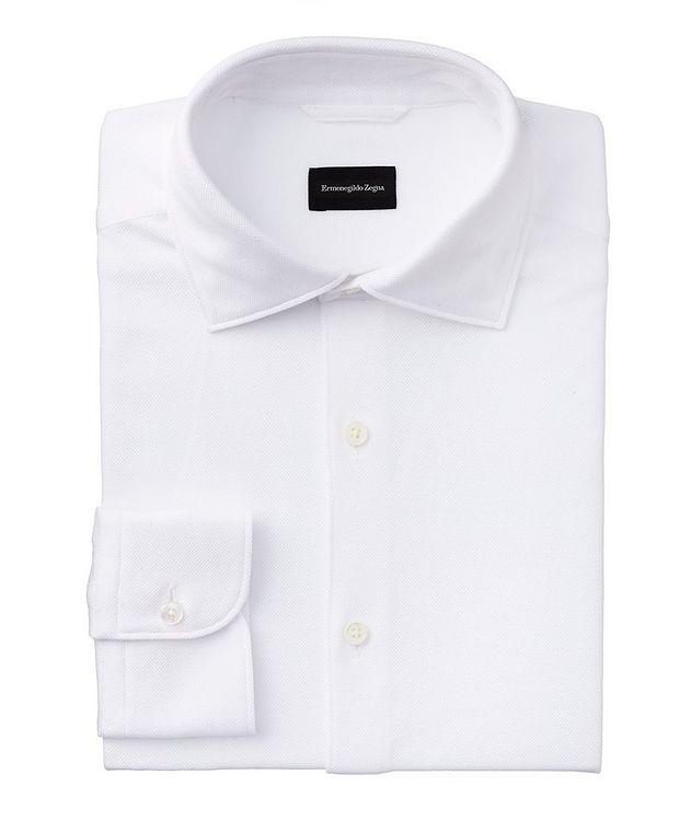 Slim-Fit Piqué Cotton Shirt picture 1