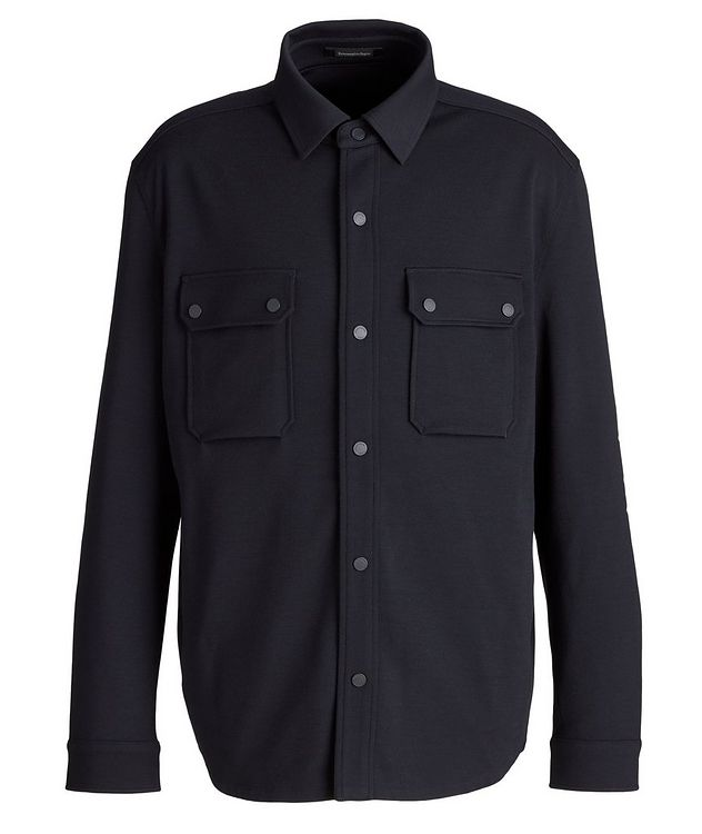 High Performance Wool Overshirt picture 1