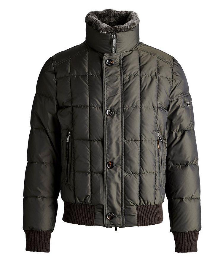 Soleri Fur-Trimmed Quilted Down Bomber Jacket image 0