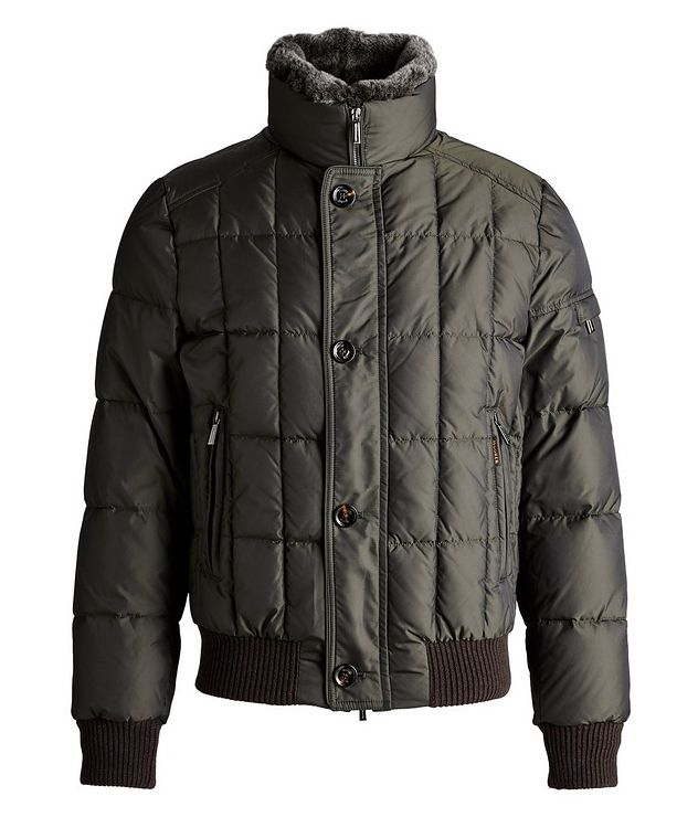 Soleri Fur-Trimmed Quilted Down Bomber Jacket picture 1