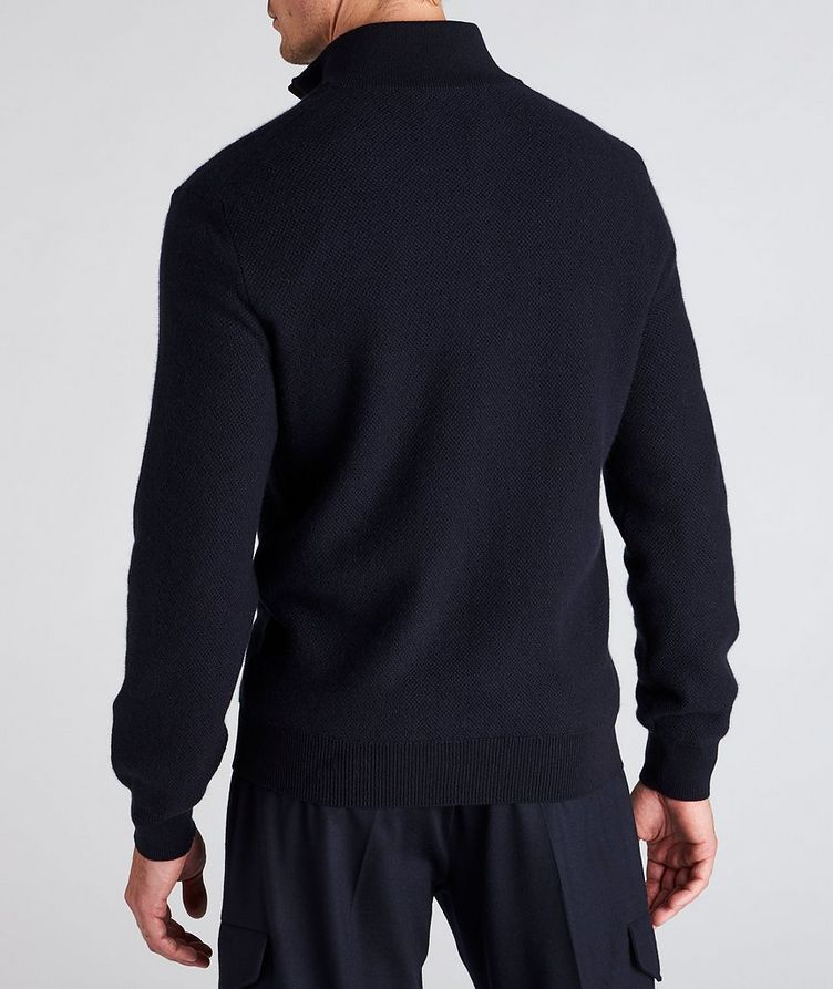 Half-Zip Premium Cashmere Knit Sweater image 2