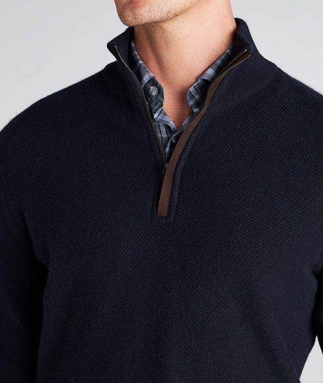 Half-Zip Premium Cashmere Knit Sweater picture 4