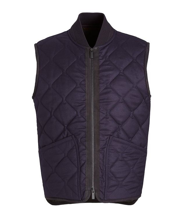 Quilted Flannel Wool Vest picture 1