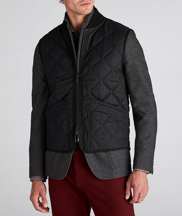 Quilted Flannel Wool Vest picture 2