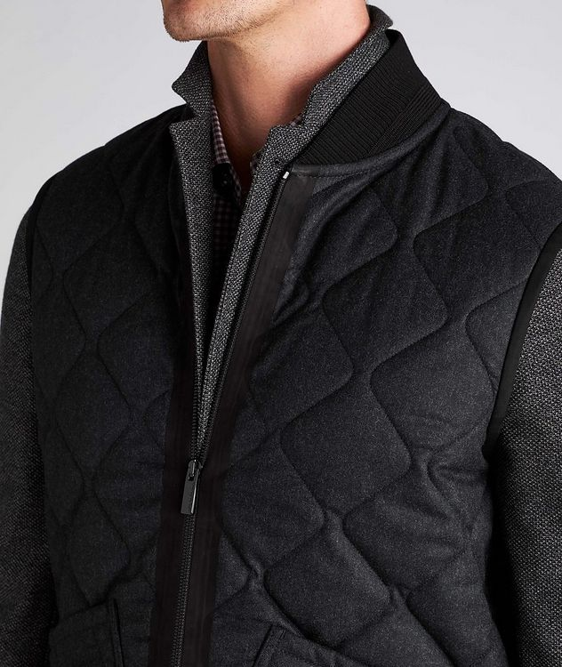 Quilted Flannel Wool Vest picture 4