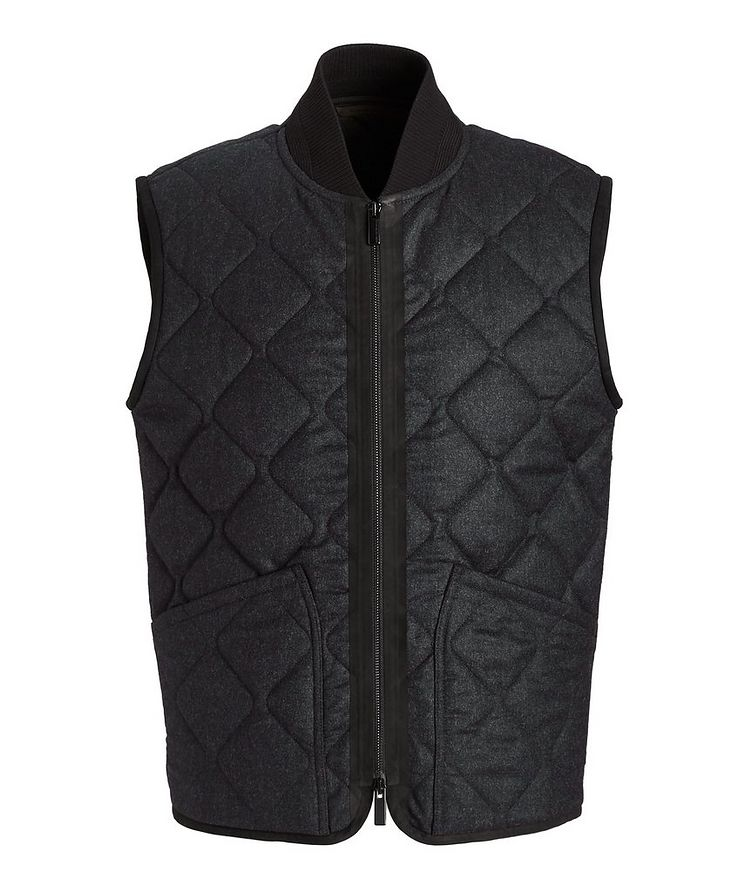 Quilted Flannel Wool Vest image 0