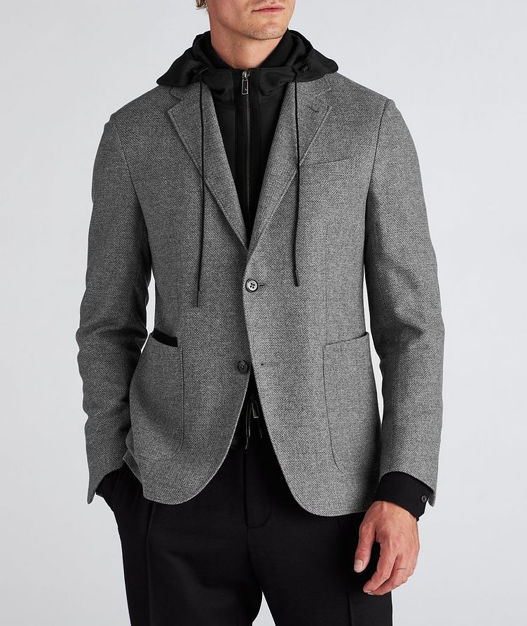 Veston en laine et cachemire à plastron détachable image 1