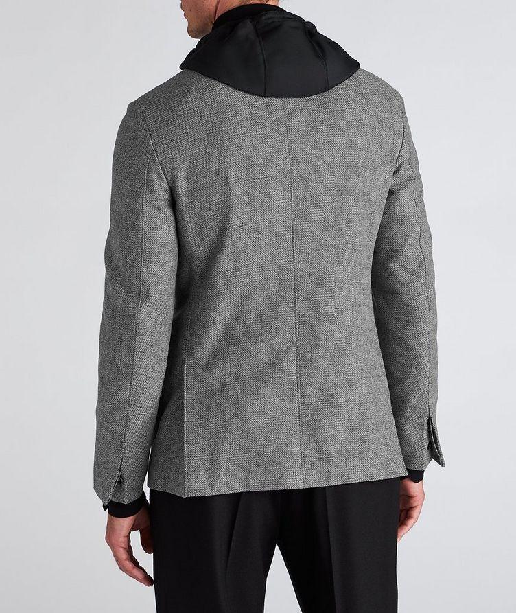 Veston en laine et cachemire à plastron détachable image 2