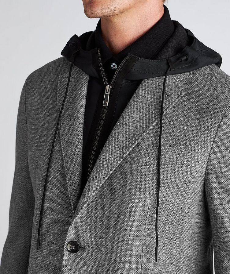 Veston en laine et cachemire à plastron détachable image 3