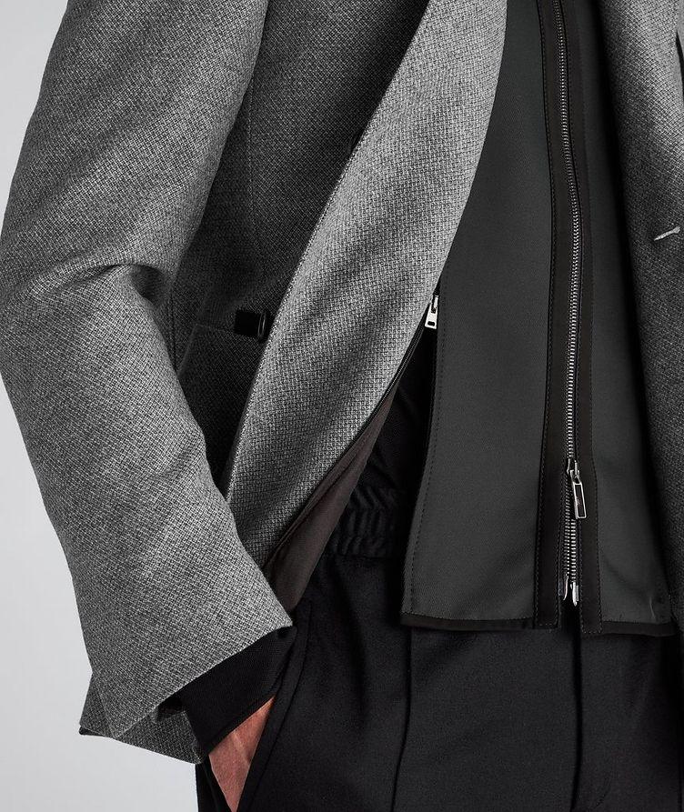Veston en laine et cachemire à plastron détachable image 4