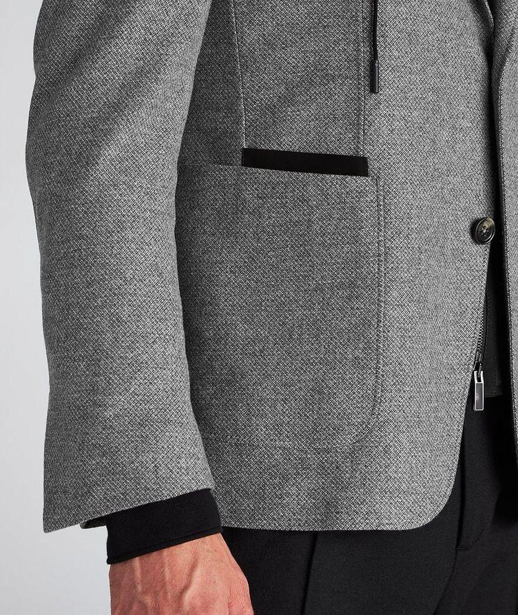 Veston en laine et cachemire à plastron détachable image 5