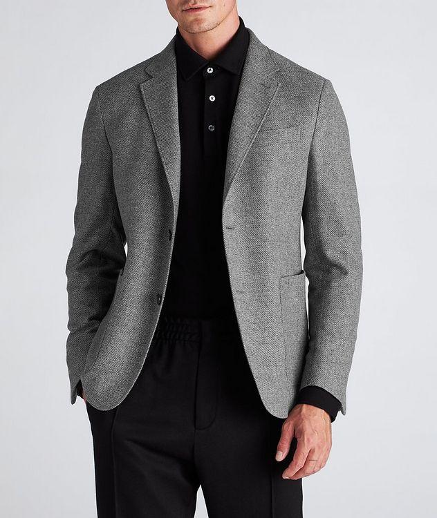 Veston en laine et cachemire à plastron détachable picture 7