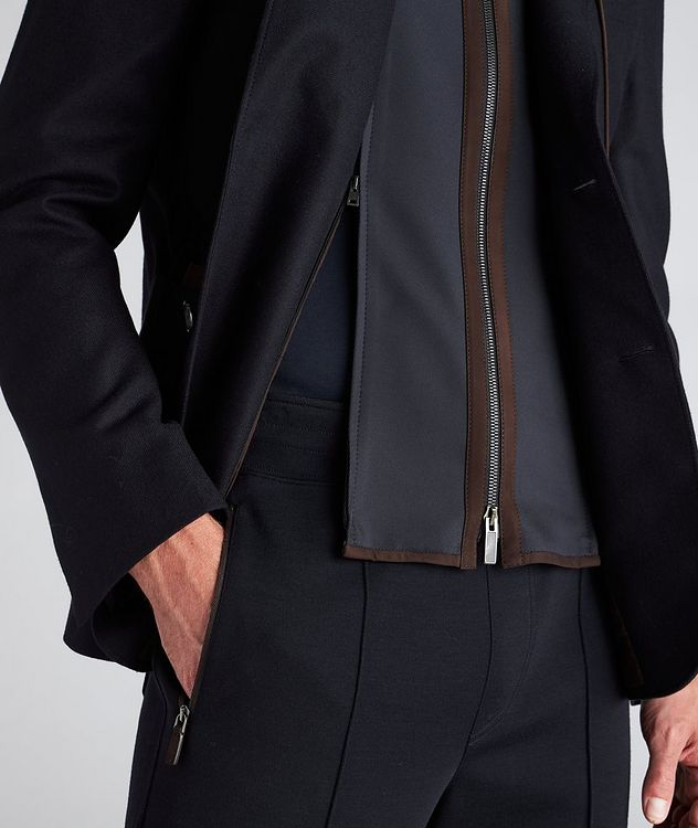 Trofeo Cashmere Detachable Bib Wool Sports Jacket picture 5