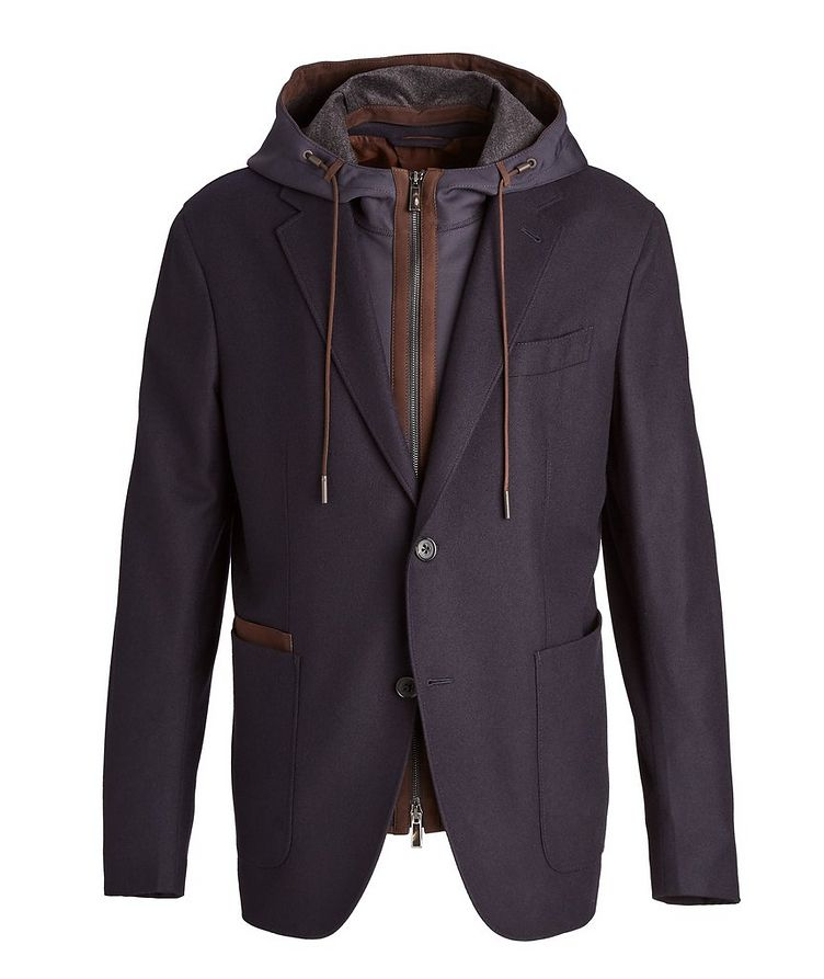 Trofeo Cashmere Detachable Bib Wool Sports Jacket image 0