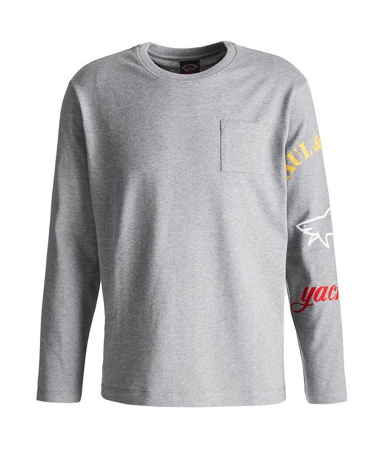 Long-Sleeve Logo Cotton T-Shirt image 0