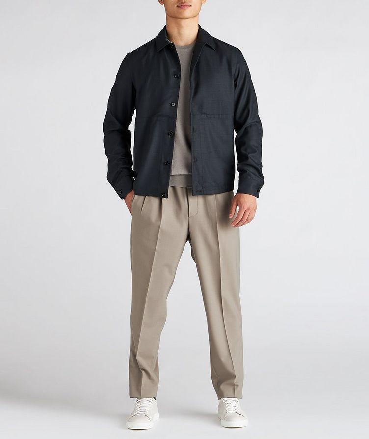 Achillfarm Wool-Silk Blouson Sports Jacket image 4