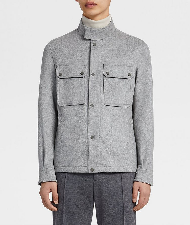 Water-Repellent Cashmere Field Jacket image 1