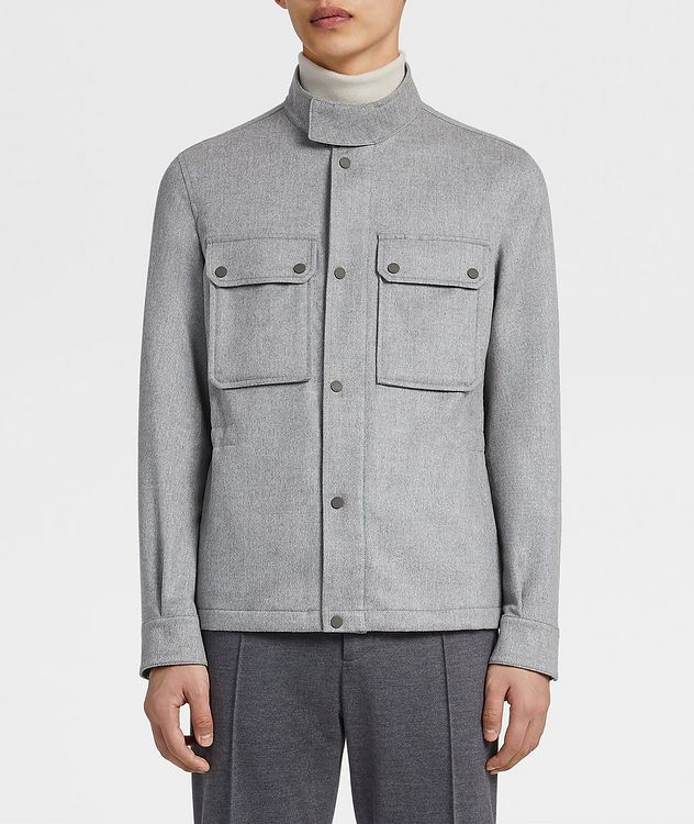Water-Repellent Cashmere Field Jacket picture 2