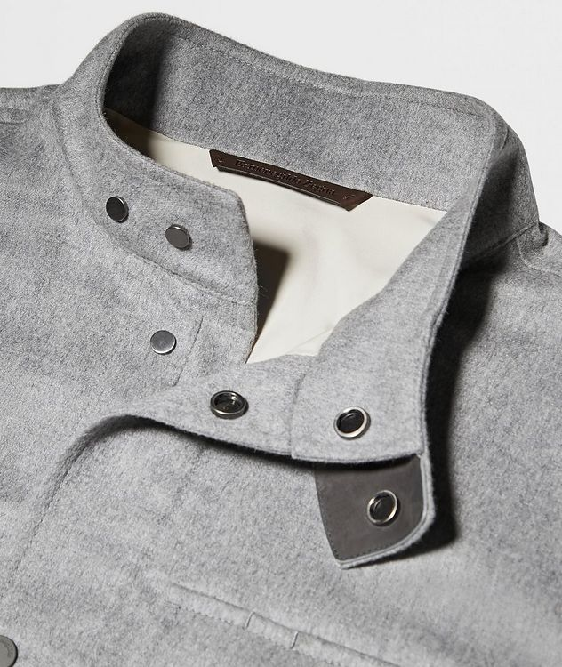 Water-Repellent Cashmere Field Jacket picture 4